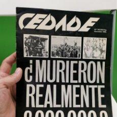 Libros de segunda mano: REVISTA CEDADE, N.º 136, NOVIEMBRE DE 1985.. Lote 277130603