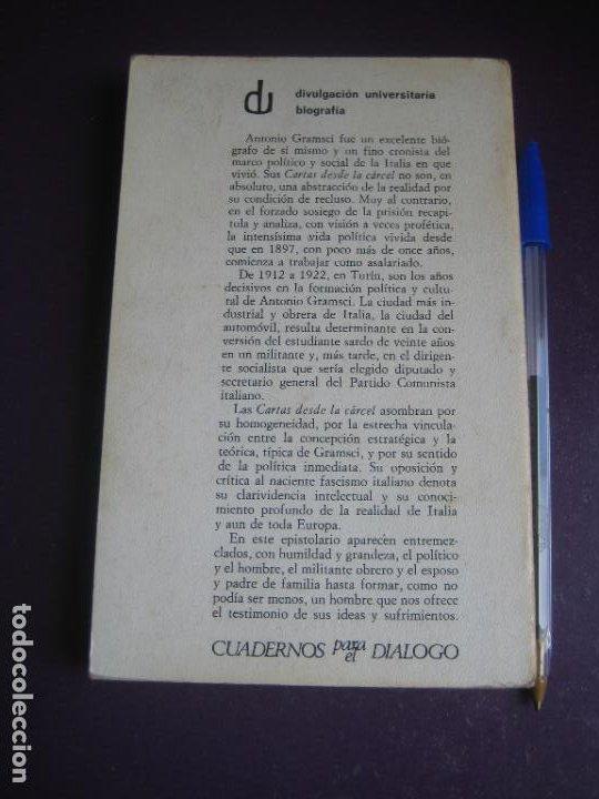 Libros de segunda mano: CARTAS DESDE LA CARCEL - ANTONIO GRAMSCI - CUADERNOS PARA EL DIALOGO 1975 - LEVE USO - Foto 2 - 277525503