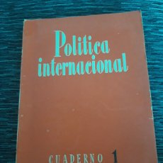 Libros de segunda mano: REVISTA POLÍTICA INTERNACIONAL CUADERNO 1950 I. Lote 279520358