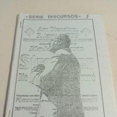 Libros de segunda mano: SERIE DISCURSOS Nº 5 JULIUS STREICHER EDICIONES NUEVO PENSAMIENTO REF. UR EST. Lote 285318618