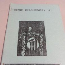 Libros de segunda mano: SERIE DISCURSOS Nº 6 HEINRICH HUNKE EDICIONES NUEVO PENSAMIENTO REF. UR EST. Lote 285318728