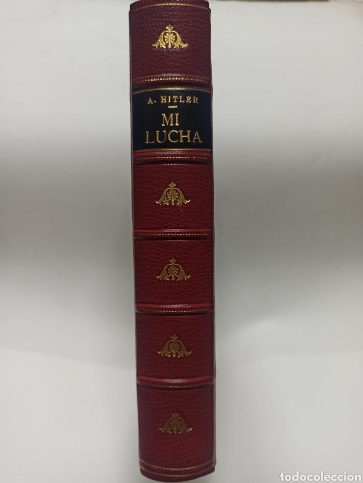 Libros de segunda mano: ADOLF HITLER: MI LUCHA, 2ª EDICIÓN: AVILA, 1937, ENCUADERNADO EN MEDIA PIEL CONSERVA CUBIERTA. - Foto 2 - 286335083