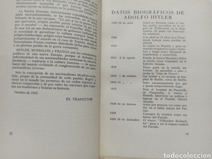 Libros de segunda mano: ADOLF HITLER: MI LUCHA, 2ª EDICIÓN: AVILA, 1937, ENCUADERNADO EN MEDIA PIEL CONSERVA CUBIERTA. - Foto 4 - 286335083