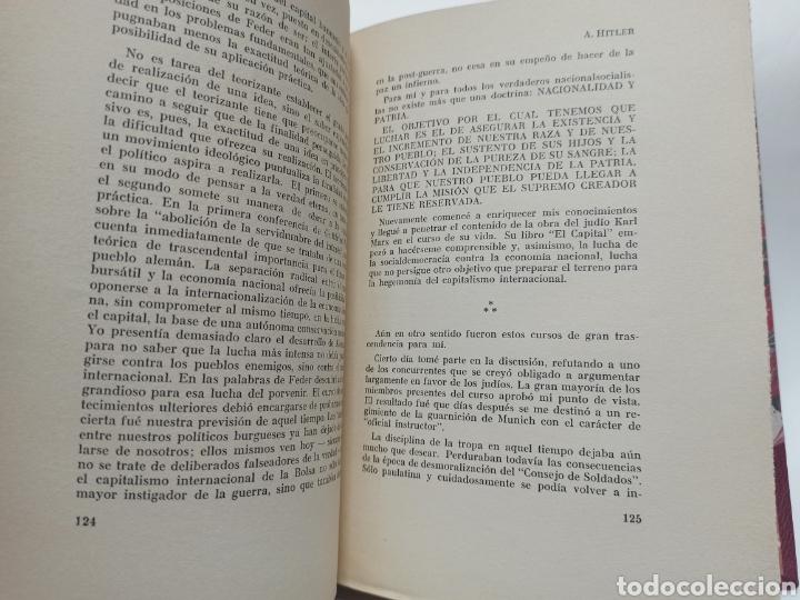 Libros de segunda mano: ADOLF HITLER: MI LUCHA, 2ª EDICIÓN: AVILA, 1937, ENCUADERNADO EN MEDIA PIEL CONSERVA CUBIERTA. - Foto 5 - 286335083