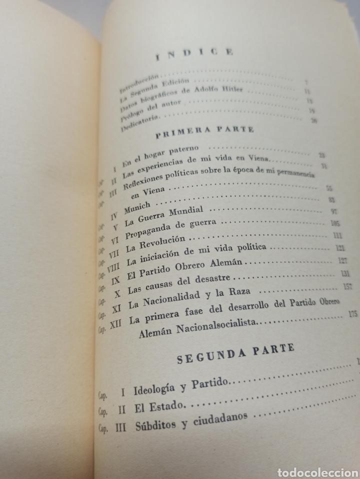 Libros de segunda mano: ADOLF HITLER: MI LUCHA, 2ª EDICIÓN: AVILA, 1937, ENCUADERNADO EN MEDIA PIEL CONSERVA CUBIERTA. - Foto 7 - 286335083