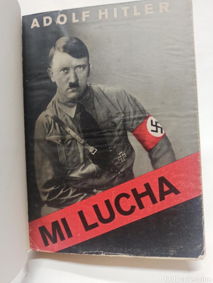 ADOLF HITLER: MI LUCHA, 2ª EDICIÓN: AVILA, 1937, ENCUADERNADO EN MEDIA PIEL CONSERVA CUBIERTA. (Libros de Segunda Mano - Pensamiento - Política)