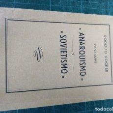Libri di seconda mano: RODOLFO ROCKER. OPINA SOBRE ANARQUISMO Y SOVIETISMO. CNT. Lote 286961223