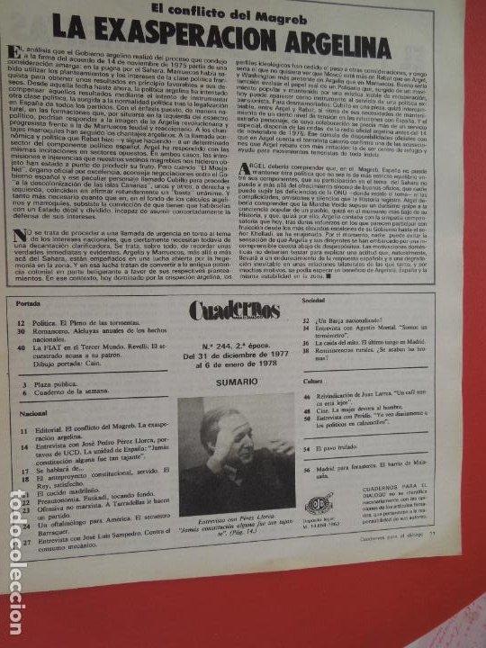Libros de segunda mano: CUADERNOS PARA EL DIALOGO REVISTA Nº 244- 01-1978- LA LUCHA POR EL PODER EN EL BARCA - Foto 2 - 287790738