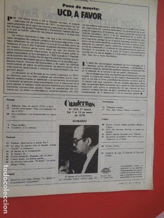 Libros de segunda mano: CUADERNOS PARA EL DIALOGO REVISTA Nº 245 - 01-1978 - ENTREVISTA A CARRILLO - Foto 2 - 287790848