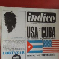 Libri di seconda mano: INDICE REVISTA Nº 221-22-23 Nº TRIPLE - CORTAZAR - USA Y CUBA - ISRAEL -1967. Lote 287856378