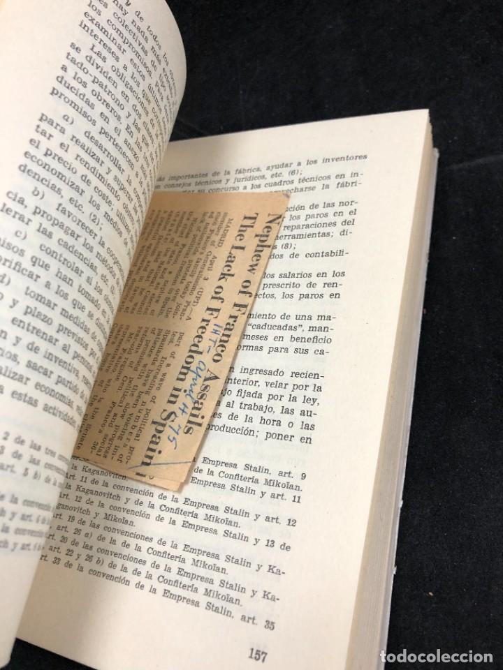 Libros de segunda mano: EL OBRERO EN LA U.R.S.S. Convenciones colectivas, realidades obreras en Europa del Este. Pual Barton - Foto 7 - 287856543