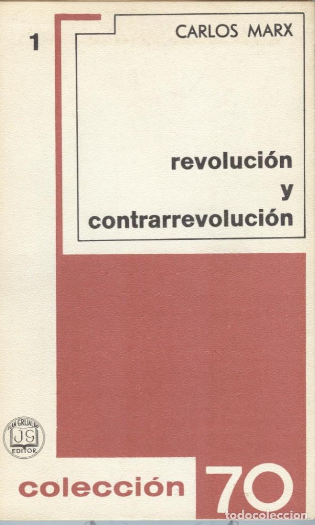 CARLOS MARX: REVOLUCIÓN Y CONTRARREVOLUCIÓN (Libros de Segunda Mano - Pensamiento - Política)