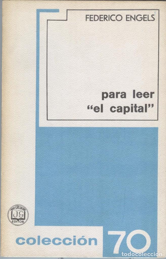 ENGELS: PARA LEER EL CAPITAL (Libros de Segunda Mano - Pensamiento - Política)