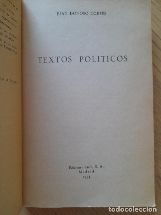 Libros de segunda mano: Textos politicos, Juan Donoso Cortes, ed. Rialp. 1954 - Foto 4 - 288495708