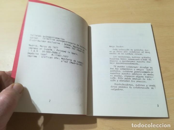 Libros de segunda mano: APUNTES HISTORICOS AUTOGESTIONARIOS / COLECTIVO AUTOGESRIONARIO DE VALENCIA / DERSA / AK11 - Foto 5 - 288516148