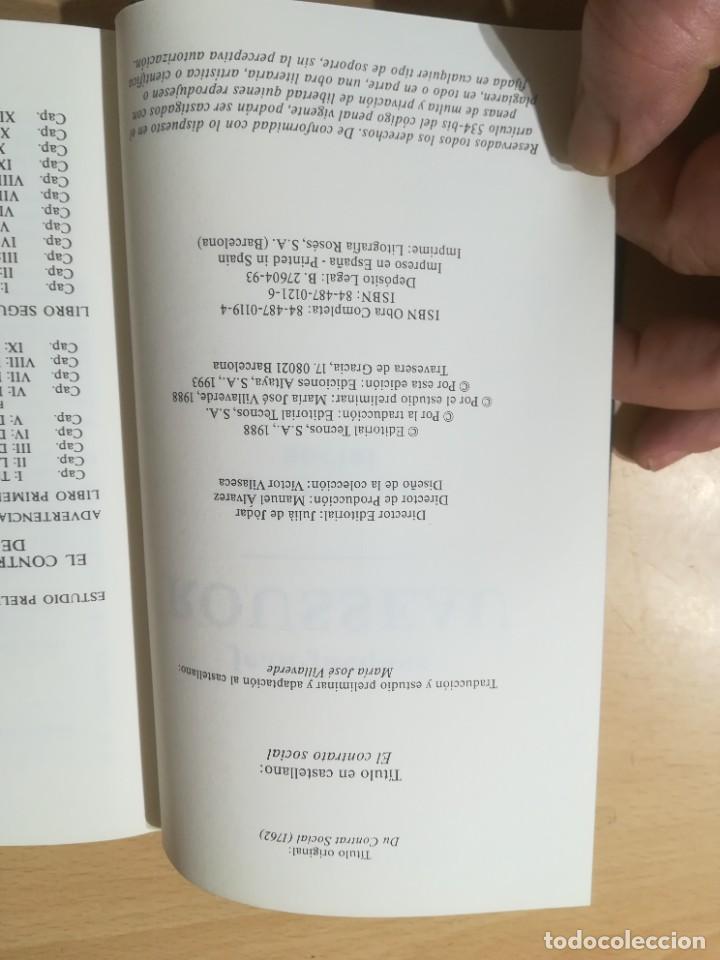 Libros de segunda mano: EL CONTRATO SOCIAL / JEAN JACQUES ROUSSEAU / ALTAYA / AK78 - Foto 5 - 288530523