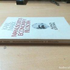 Libros de segunda mano: MANUSCRITOS ECONOMIA Y FILOSOFIA / KARL MARX / ALIANZA EDITORIAL / AK43. Lote 288530703