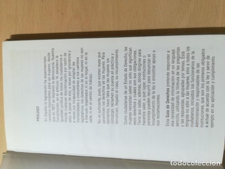 Libros de segunda mano: GUIA DE LOS DERECHOS DE LA MUJER 1984 / LUCIA RUANO / GUIAS 1 MINISTERIO CULTURA / AK72 - Foto 7 - 288530943