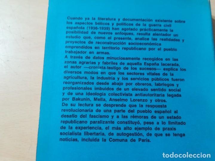 Libros de segunda mano: COLECTIVIDADES LIBERTARIAS EN ESPAÑA / GASTON LEVAN / PROYECCION / AK81 - Foto 3 - 288537578