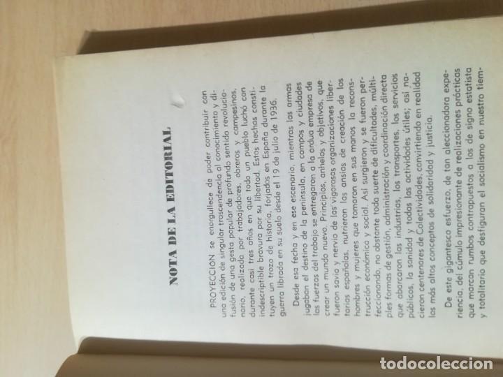 Libros de segunda mano: COLECTIVIDADES LIBERTARIAS EN ESPAÑA / GASTON LEVAN / PROYECCION / AK81 - Foto 8 - 288537578