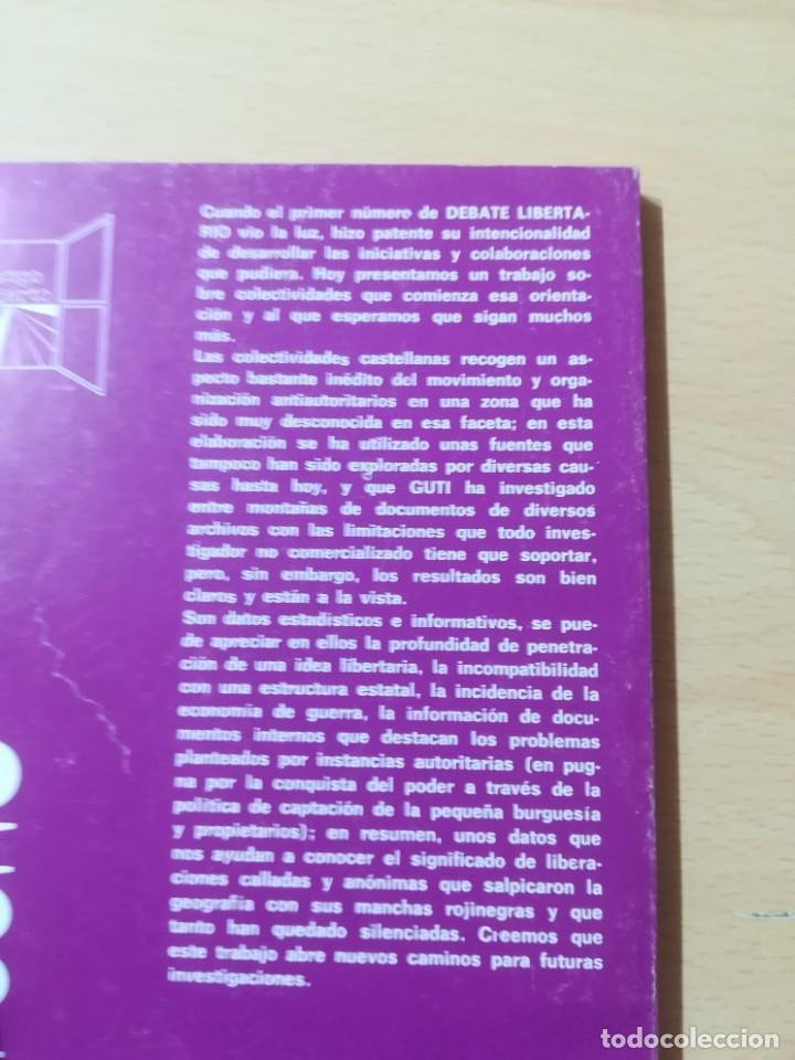 Libros de segunda mano: COLETIVIDADES LIBERTARIAS EN CASTILLA / JOSE LUIS GUTIERREZ MOLINA / CAMPO ABIERTO / AK81 - Foto 4 - 288537973