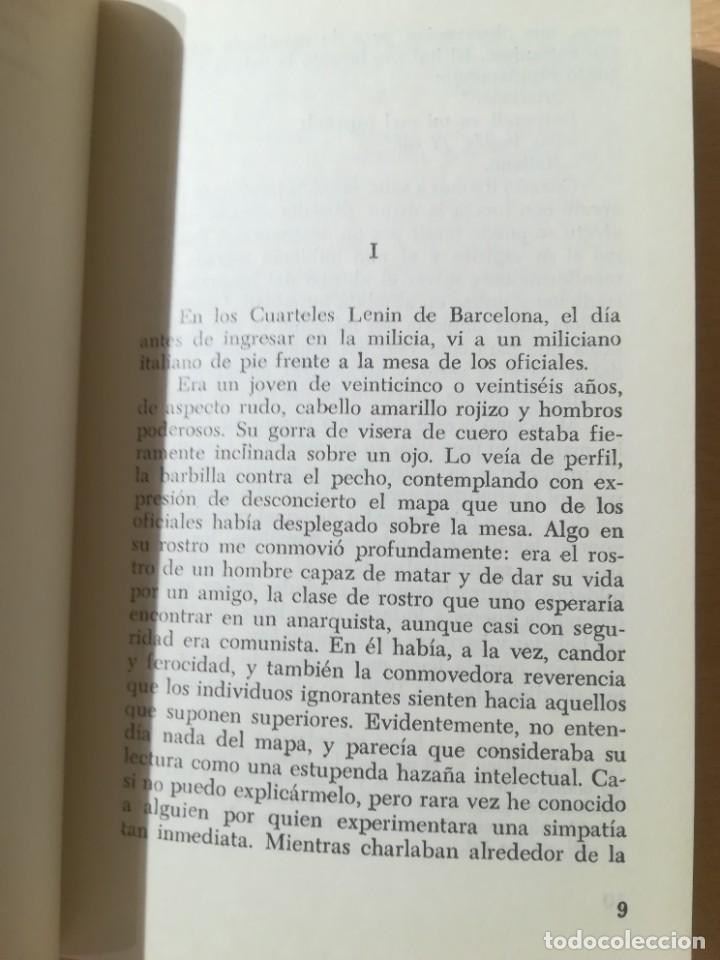 Libros de segunda mano: GEORGE ORWELL CATALUÑA 1937 / PROYECCION / TESTIMONIO REVOLUCION ESPAÑOLA / AL88 - Foto 9 - 288543378