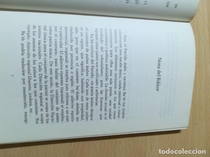 Libros de segunda mano: EL PARTID BA´TH ARABE Y SOCIALISTA, LA ETAPA DE SU FUNDACION 40 - 49 / SHIBRI-L-A-YSAMI / UNIDAD LIB - Foto 8 - 288551413