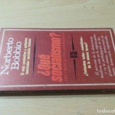Libros de segunda mano: QUE SOCIALISMO / NORBERTO BOBBIO / ROTATIVA / AL39. Lote 288551633