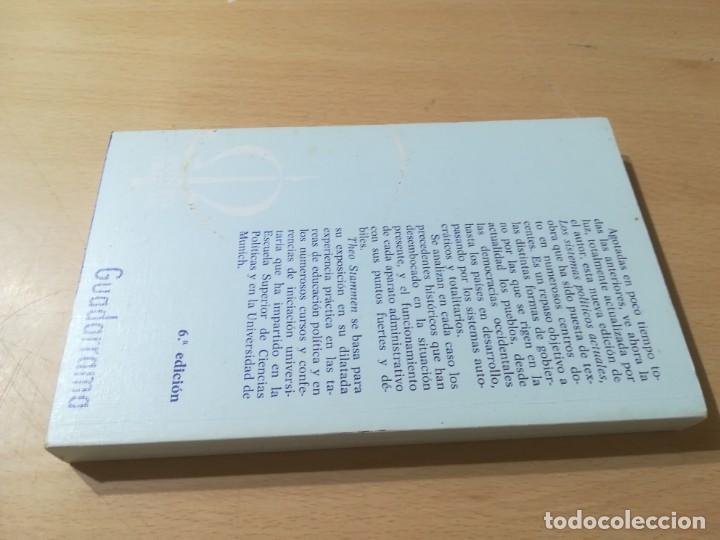 Libros de segunda mano: SISTEMAS POLITICOS ACTUALES / THEO STAMMEN / GUADARRAMA / AL57 - Foto 2 - 288552268