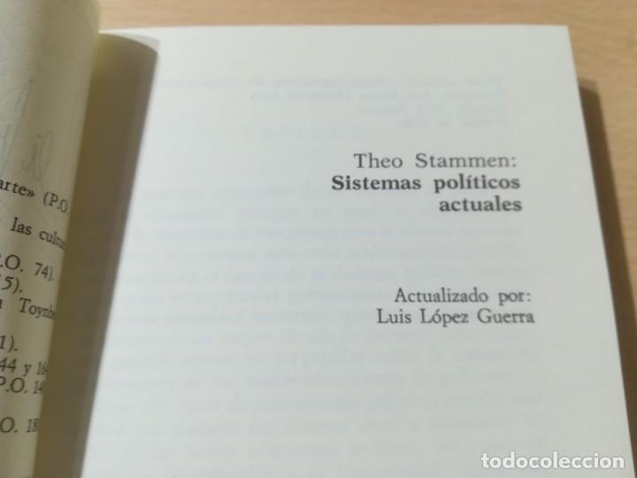 Libros de segunda mano: SISTEMAS POLITICOS ACTUALES / THEO STAMMEN / GUADARRAMA / AL57 - Foto 5 - 288552268