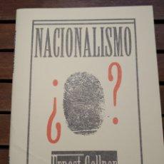 Libros de segunda mano: NACIONALISMO. ERNEST GELLNER. LIBRERIA DERSA. 2001. VOZ DE LOS SIN VOZ 337. Lote 295465238