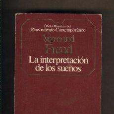 Libros de segunda mano: LA INTERPRETACIÓN DE LOS SUEÑOS. SIGMUND FREUD.PLANETA AGOSTINI.. Lote 22745822