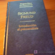 Libros de segunda mano: INTRODUCCION AL PSICOANALISIS ( SIGMUND FREUD) TAPA DURA . Lote 16578583