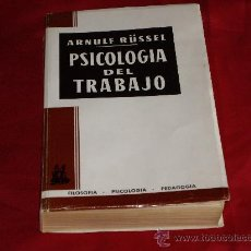 Libros de segunda mano: PSICOLOGIA DEL TRABAJO. Lote 26898050