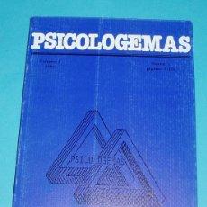 Libros de segunda mano: PSICOLOGEMAS. VOL 1 - 1987. Nº 1 PÁG. 1-156.. Lote 26534750
