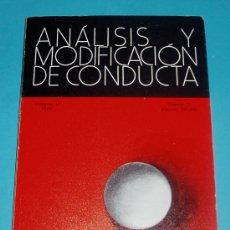 Libros de segunda mano: ANÁLISIS Y MODIFICACIÓN DE CONDUCTA. VOL. 10 - 1984. Nº 25. PÁG. 225-388. Lote 26534751