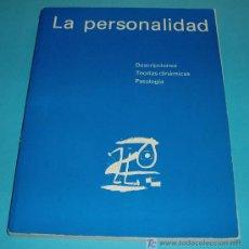 Libros de segunda mano: LA PERSONALIDAD. DESCRIPCIONES. TEORÍAS DINÁMICAS. PATOLOGÍA. P. PICHOT.. Lote 24374548