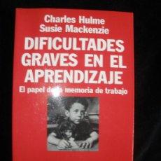 Libros de segunda mano: DIFICULTADES GRAVES EN EL APRENDIZAJE. ARIEL PSICOLOGIA. 2010 174 PAG. Lote 19942896