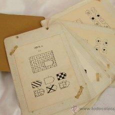 Libros de segunda mano: ANTIGUO TEST DE RAVEN COMPLETO Y PINTADO A MANO - AÑOS 40. Lote 21738781