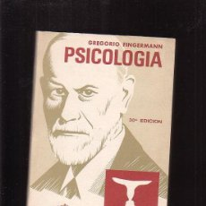 Libros de segunda mano: GREGORIO FINGERMANN , PSICOLOGIA - EDITA : EL ATENEO , ARGENTINA 1974. Lote 24760648