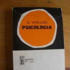 Libros de segunda mano: PSICOLOGIA. A. WELLEK. ED. IBEROAMERICANAS. 1969 270 PAG. Lote 27744254
