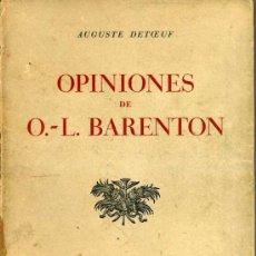Libros de segunda mano: OPINIONES DE BARENTON (1961). Lote 28623313