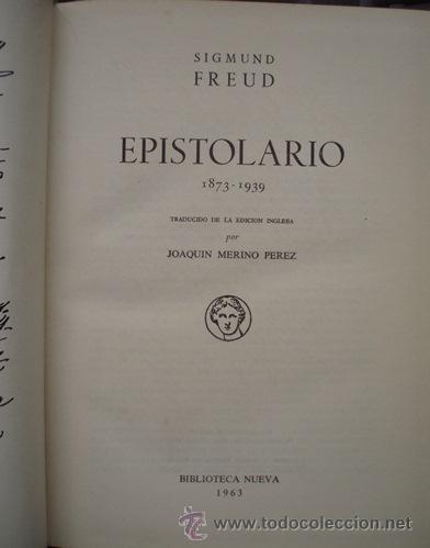 Libros de segunda mano: EPISTOLARIO - SIGMUND FREUD - Foto 2 - 140897864