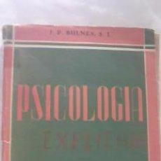 Libros de segunda mano: PSICOLOGIA ACOMODADA A LA ENSEÑANZA MEDIA POR JOSÉ P.BULNES,S.L UNDECIMA EDICION 1956. Lote 29681024
