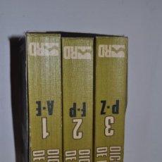 Libros de segunda mano: DICCIONARIO DE PSICOLOGÍA ( 3 TOMOS) ARNOLD, EYSENCK,MEILI AB13035. Lote 31753143