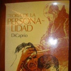 Libros de segunda mano: TEORIA DE LA PERSONALIDAD. DICAPRIO. EDITORIAL INTERAMERICANA 1983. Lote 34752980