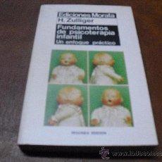 Libros de segunda mano: LIBRO: FUNDAMENTOS DE PSICOLOGIA INFANTIL.-DE H.ZULLIGER.-ED.MORATA, S.A.. Lote 36316486