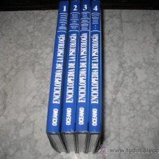 Libros de segunda mano: OCEANO ENCICLOPEDIA DE LA PSICOLOGÍA COLECCIÓN COMPLETA 4 TOMOS EMOCIONES SUEÑO ESTRÉS TERAPIAS AMOR. Lote 151662112