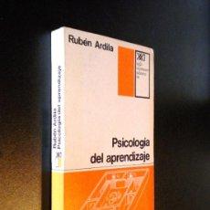 Libros de segunda mano: PSICOLOGÍA DEL APRENDIZAJE / ARDILA, RUBÉN. Lote 36660583