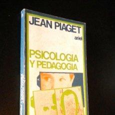 Libros de segunda mano: PSICOLOGIA Y PEDAGOGIA / JEAN PIAGET. Lote 36661808